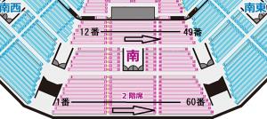 日本武道館 2階席 スタンド 席番号
