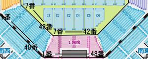 日本武道館 1階席 席番号