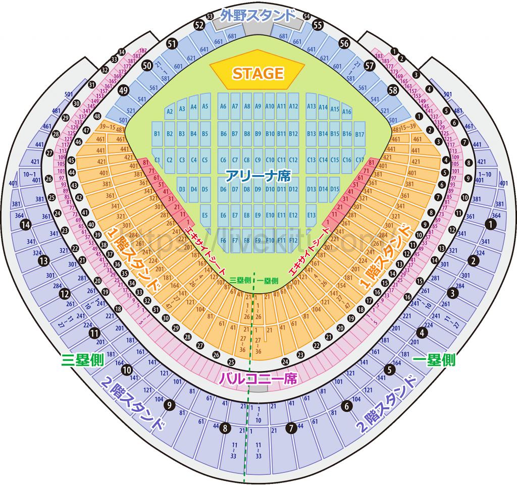 東京ドーム 座席表