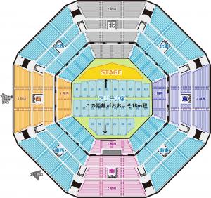 日本武道館 1階席 ステージ 距離