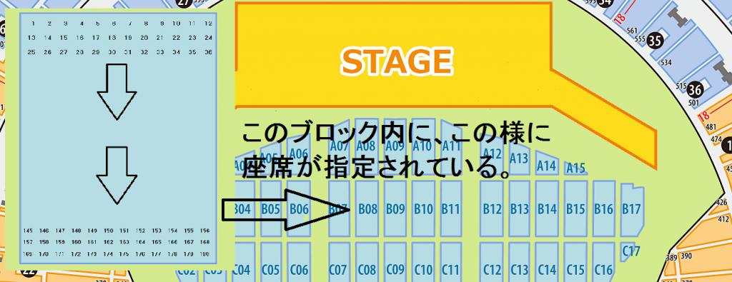 京セラドーム アリーナ席 座席番号
