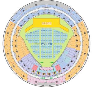 京セラドーム 座席表