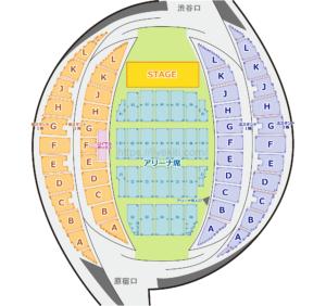 代々木第一体育館 座席表