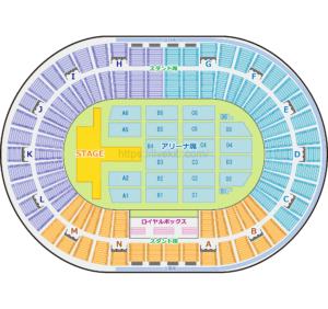 大阪城ホール 座席表