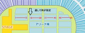 大阪城ホール アリーナ 通し番号 座席表 列指定