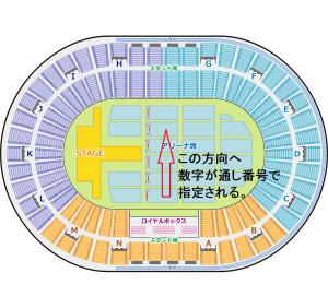 大阪城ホール アリーナ 通し番号 座席表 座席番号