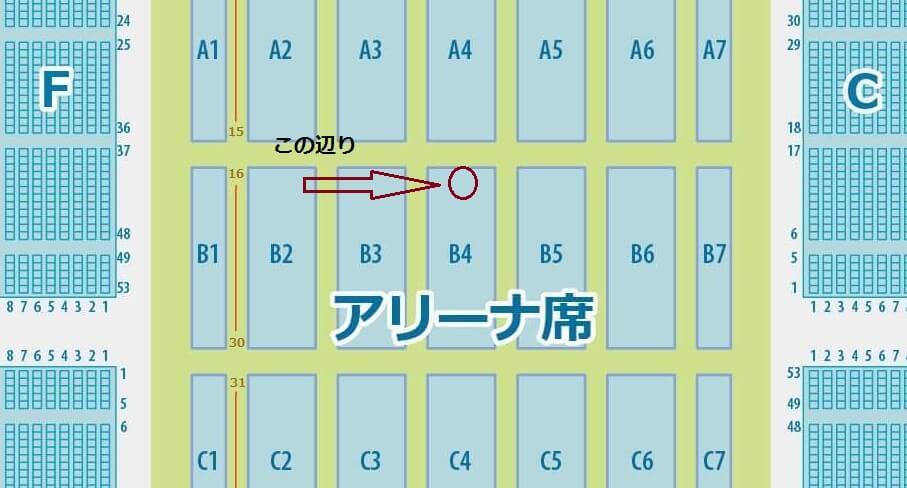 マリンメッセ福岡 B4 ブロック 1列 6番