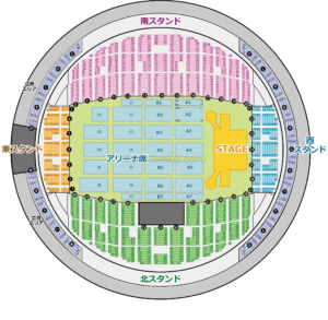 真駒内セキスイハイムアリーナ 座席表