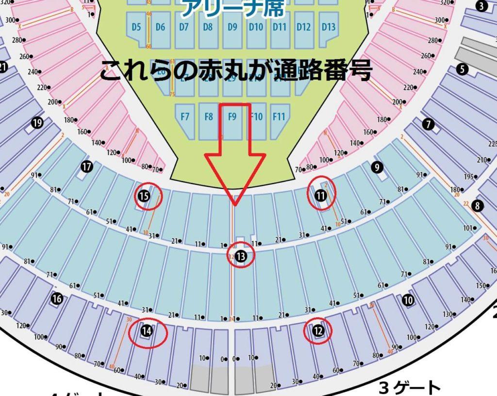 横浜スタジアム 通路番号