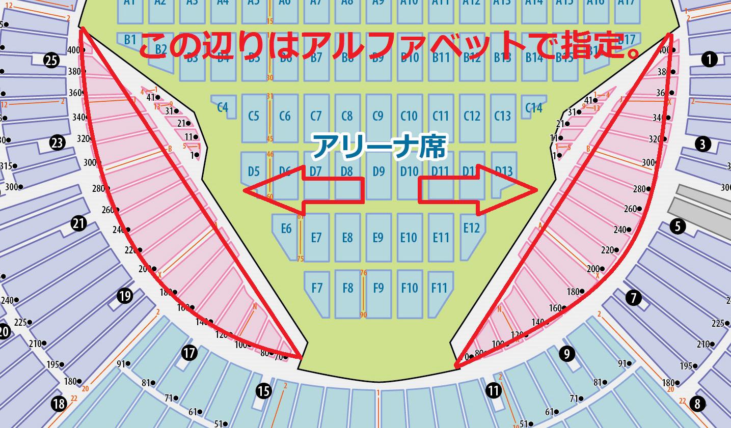 横浜 スタジアム ライブ 座席