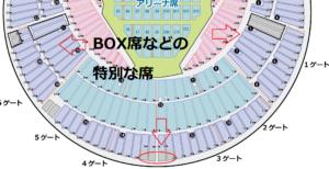 横浜スタジアム BOX席などの場所