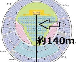 横浜スタジアム ステージから一番遠い位置の距離