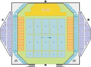 沖縄コンベンションセンター 座席表タイプ2