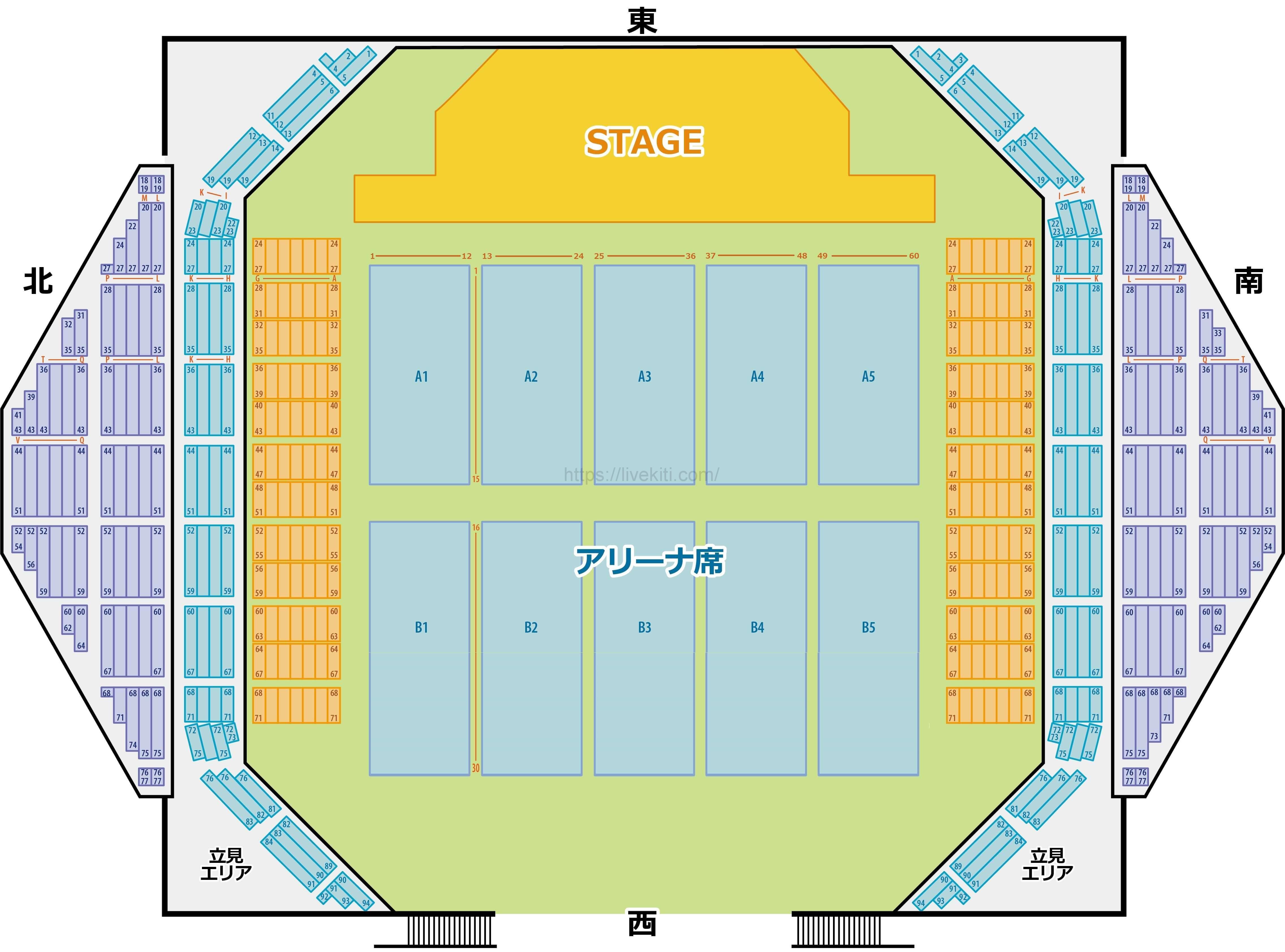 沖縄コンベンションセンター 展示棟 座席表 可動席あり