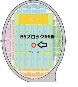 函館アリーナ B5ブロック66番