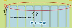 福岡国際センター 全体を列と席番号で指定パターン