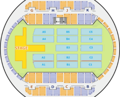幕張イベントホール 座席表 可動席収納時