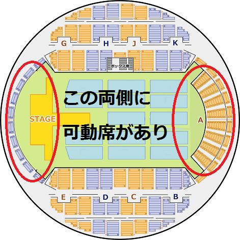 幕張イベントホール 可動席の解説