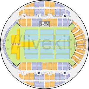 幕張イベントホール 座席表 可動席収納