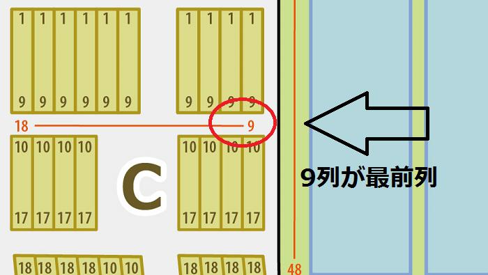 神戸ワールド記念ホール スタンド席 最前列