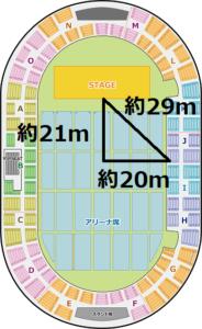 神戸ワールド記念ホール Jブロック 最前列見えかた