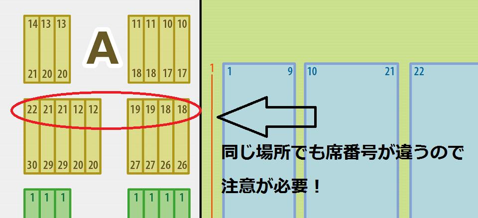 神戸ワールド記念ホール スタンド席 席番号解説