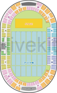 神戸ワールド記念ホール 座席表