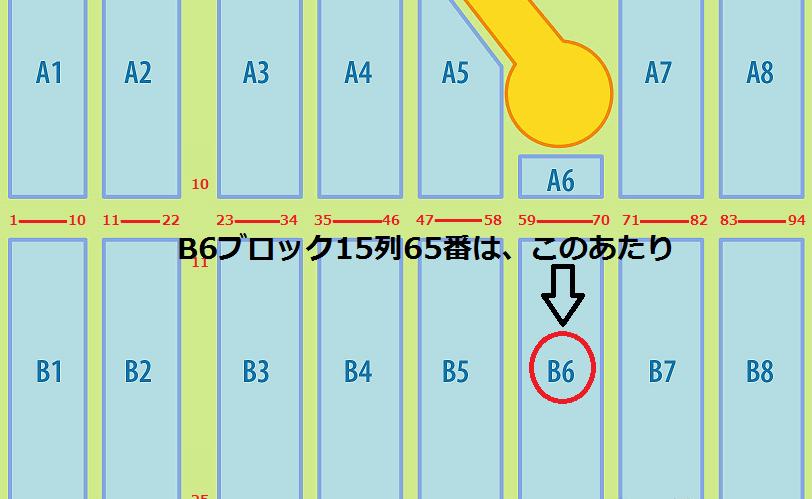 エムウェーブ アリーナ B6ブロック15列65番 例